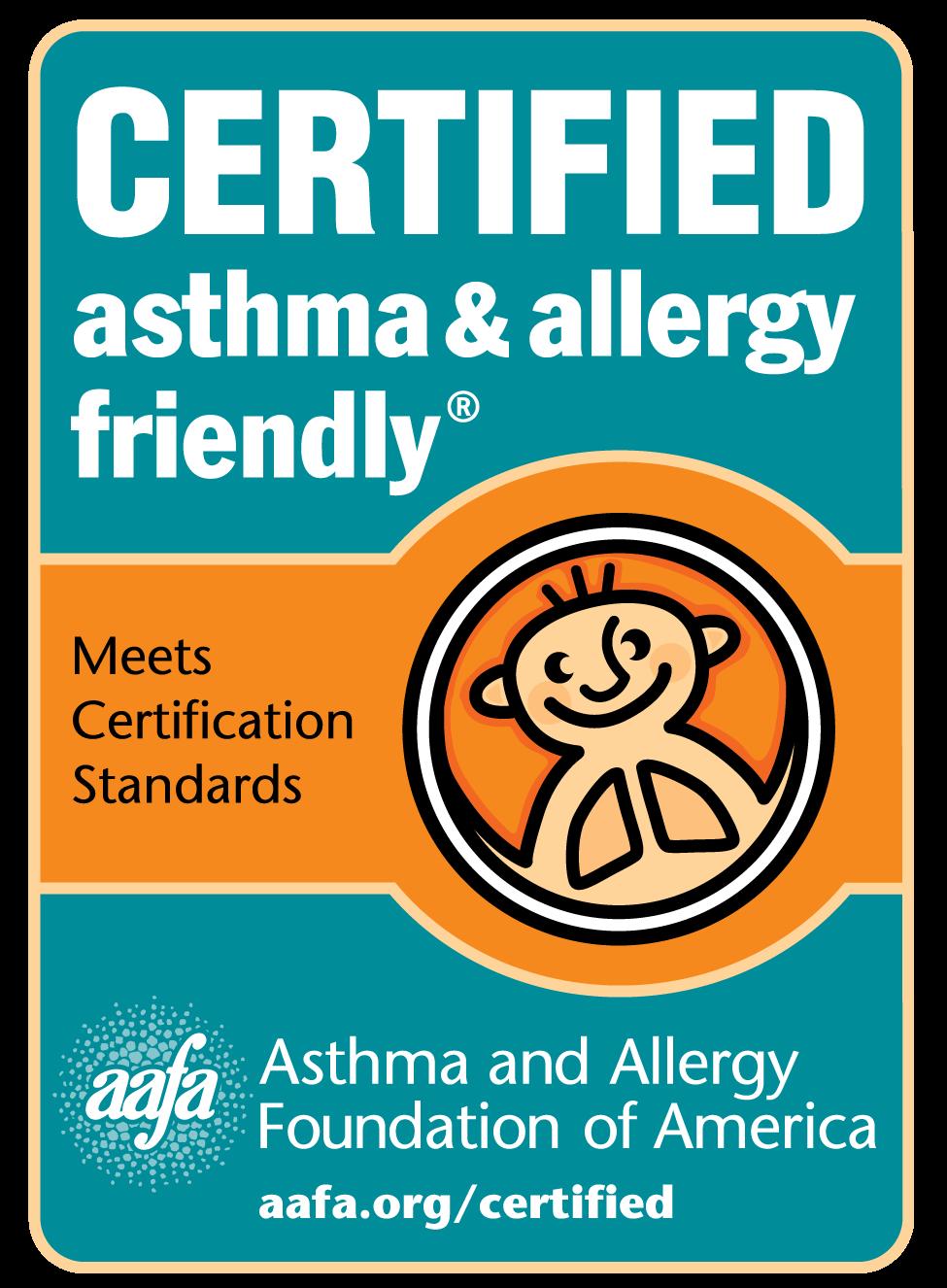 Certified Asthma & Allergy Friendly Logo