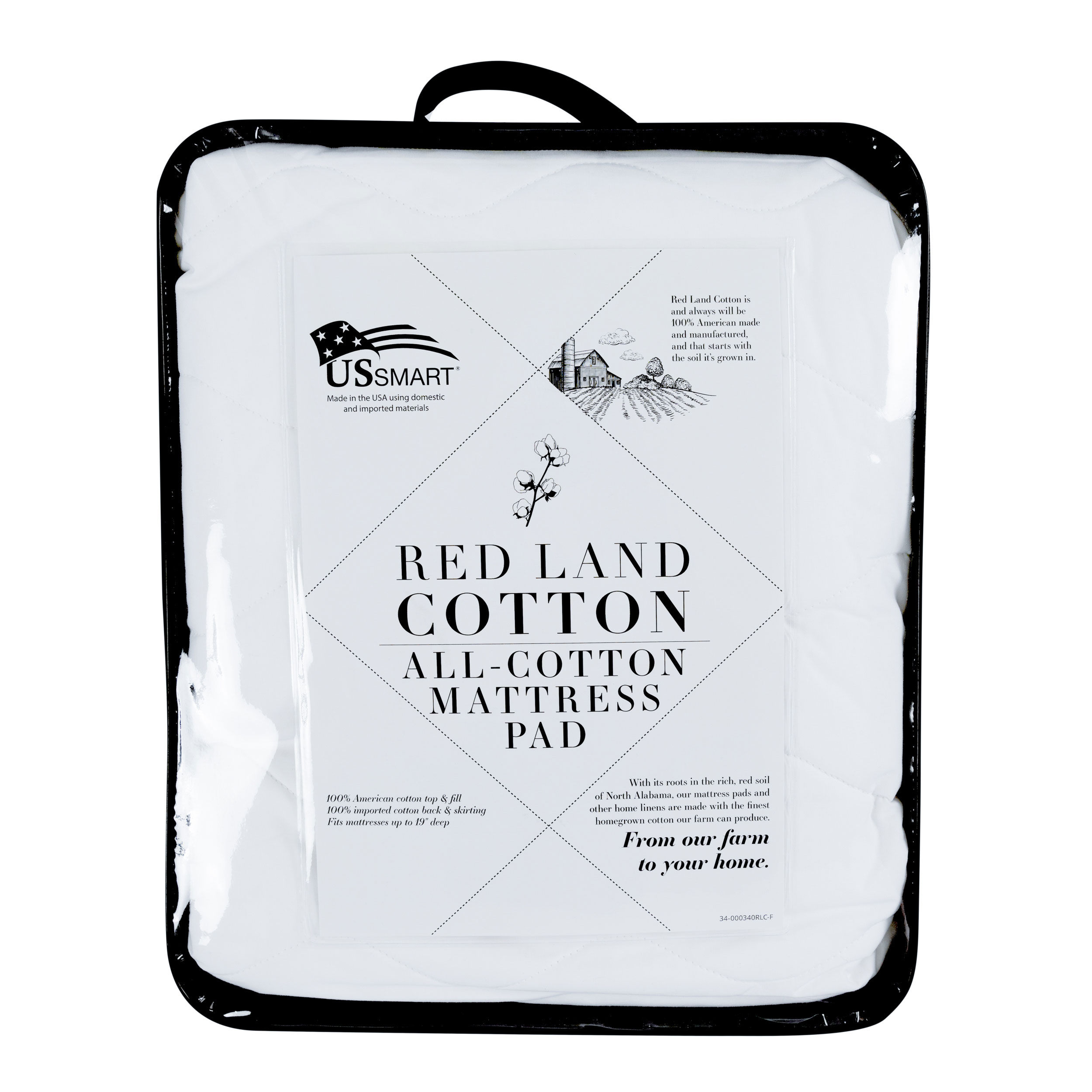Red Land Cotton 174 Classic White All Cotton Mattress Pad
