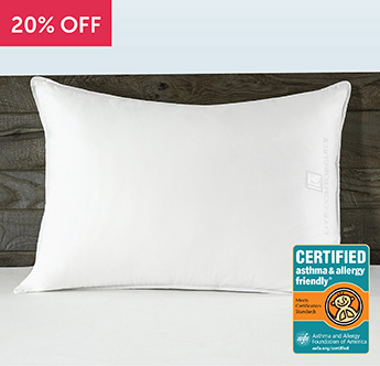 Live Comfortably® Certified Asthma & Allergy Friendly® Down Alternative Pillow - Save 20%