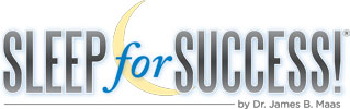 Sleep for Success by Dr. Maas