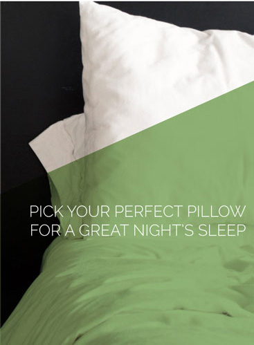 Pick Your Perfect Pillow For a Great Night's Sleep