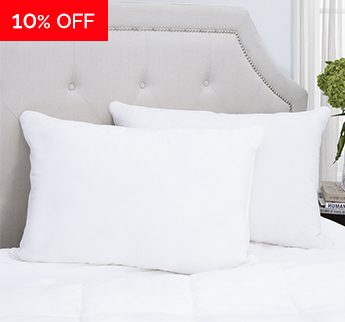 Red Land Cotton® Classic White Down Alternative Pillow - Save 10%