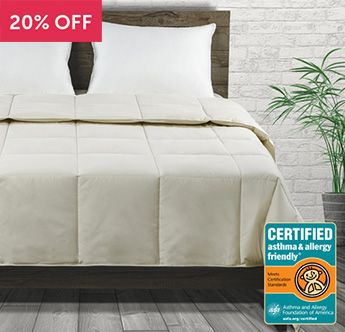 Live Comfortably® Down Certified Asthma & Allergy Friendly® Comforter - Save 20%