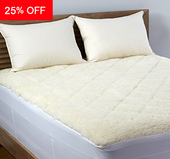 Live Comfortably® Breathable Reversible Wool Topper - Save 25%