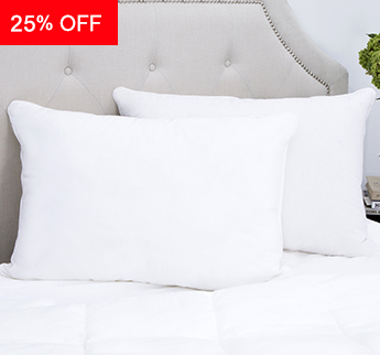 Red Land Cotton® Classic White Down Pillow - Save 25%