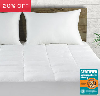 Live Comfortably® Certified Asthma & Allergy Friendly® Mattress Pad Sale - Save 20%