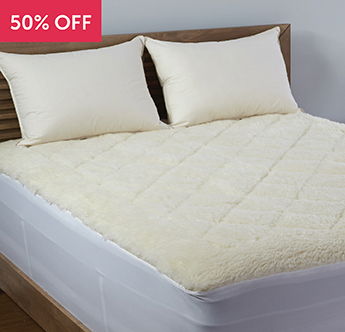 Live Comfortably® Breathable Reversible Wool Topper - Save 50%