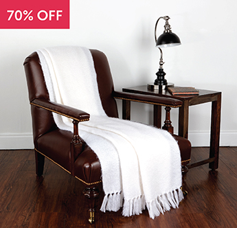 Live Comfortably® Earth's Natural Elegance Silky Mohair Throw - Save 70%