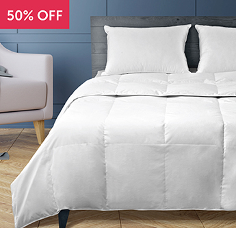Live Comfortably® European White Duck Down Comforter - Save 50%